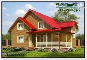 Проект каркасный дом 9 на 10 с угловой террасой