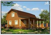 Проект каркасный дом 8 на 9 с террасой