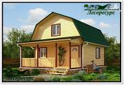 Фото: небольшой каркасный дом с террасой