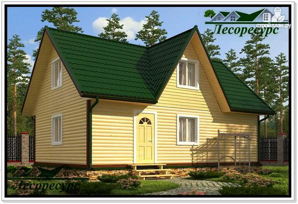 Фото: проект дом с трехфронтонной крышей