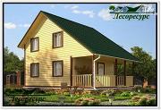 Проект каркасный дом 6 на 8 с разноуровневой крышей