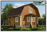 Проект каркасный дом 6 на 7 с эркером