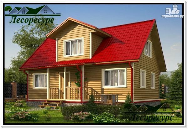 Фото: проект каркасный дом с 2 спальнями