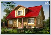 Фото: каркасный дом с 2 спальнями