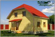 Проект дом из бруса 6 на 8 с мансардой
