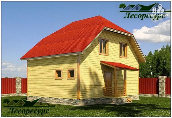 Фото 4: проект дом из бруса 6 на 8 с мансардой