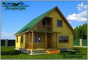 Проект дом из бруса 8х9 с мансардой