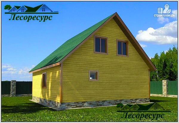 Фото 4: проект дом из бруса 8х9 с мансардой