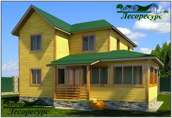 Фото: проект эксклюзивный дом из бруса