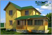 Проект эксклюзивный дом из бруса