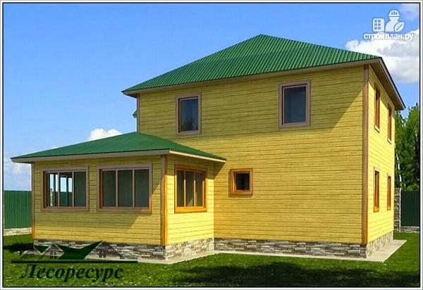 Фото 2: проект эксклюзивный дом из бруса