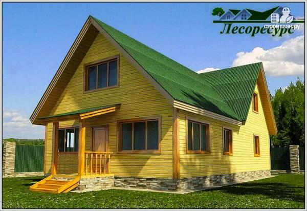 Фото 2: проект дом для постоянного проживания из бруса