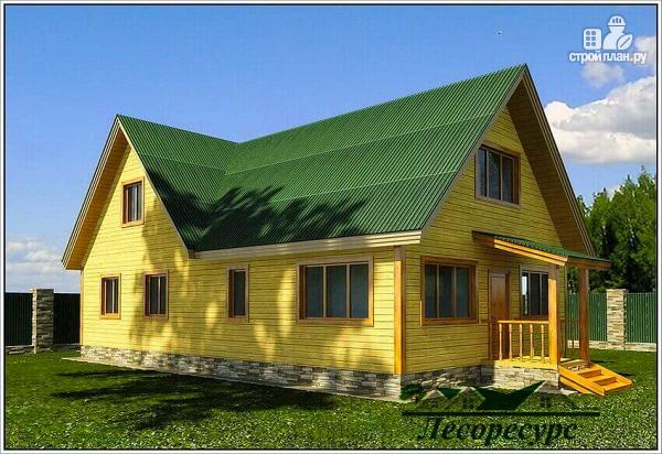 Фото: проект дом для постоянного проживания из бруса