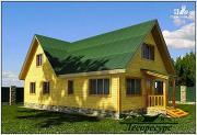 Проект дом для постоянного проживания из бруса