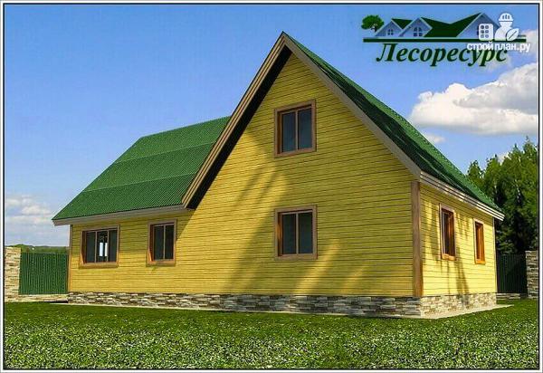 Фото 4: проект дом для постоянного проживания из бруса