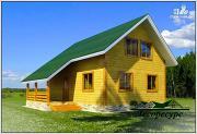 Проект дом 8 на 8 с мансардой