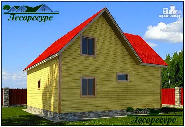 Фото 2: проект дом с тремя фронтонами