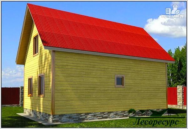 Фото 4: проект дом с тремя фронтонами