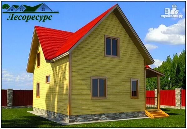 Фото 3: проект дом с тремя фронтонами