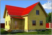 Проект дом с тремя фронтонами