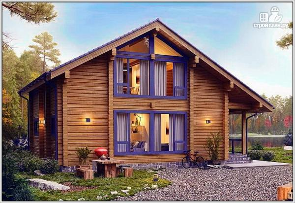 Фото 2: проект дом из бруса с двумя входами