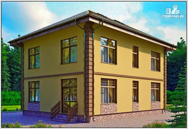 Фото: проект дом из пеноблоков с вальмовой крышей