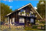 Проект дом из бруса для проживания загородом
