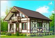 Проект красивый каркасный дом