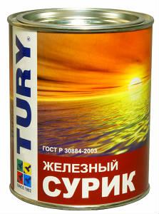 Краска масляная МА-15 TURY. Сурик железный