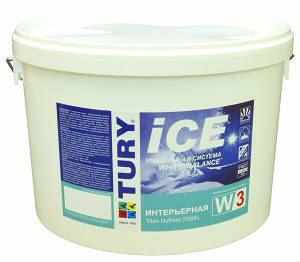 Краска Интерьерная TURY ICE W-3