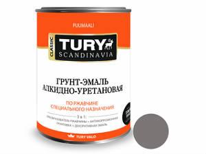 Эмаль алкидная TURY ПФ-115 стандарт ГОСТ 6465-76. Цвет: серый
