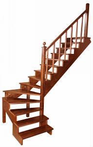 Готовая деревянная лестница К-001