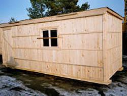 Проект №4 Бытовка деревянная 2.3x5.8