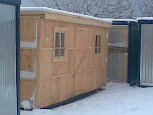 Проект №5 Бытовка деревянная 2.3x5.8
