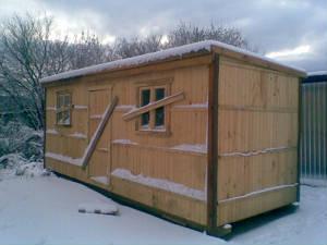 Проект №7 Бытовка деревянная 2.3x5.8