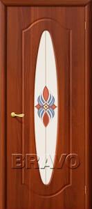 Двери ПВХ Орбита итальянский орех, миланский орех, белый лен