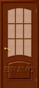 Двери шпонированные Капри-3 темный орех