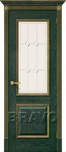 Двери межкомнатные Триест черный абрикос с серебром