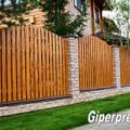 Фото 1: Забор из облицовочного кирпича завода ГИПЕРПРЕСС