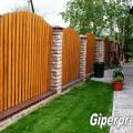 Фото 3: Забор из облицовочного кирпича завода ГИПЕРПРЕСС