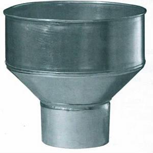 Воронка водосборная оцинкованная Ф-180/370мм