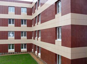 Вентилируемый фасад из керамогранита – монтаж под ключ