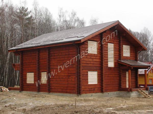 Фото Деревянный дом из лафета