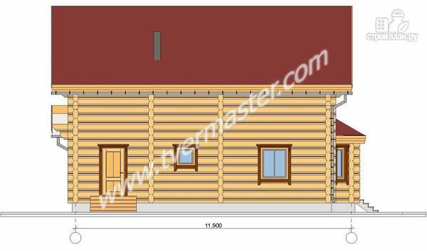 Фото 5: проект дом из строганого соснового лафета с эркерной столовой