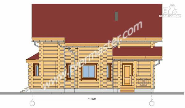 Фото 3: проект дом из строганого соснового лафета с эркерной столовой