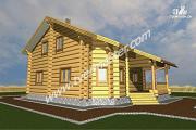 Проект дом из строганого соснового лафета со вторым светом