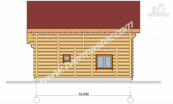 Фото 4: проект дом 10х11 из строганого соснового лафета с сауной