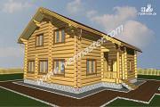 Проект дом 10х11 из строганого соснового лафета с сауной