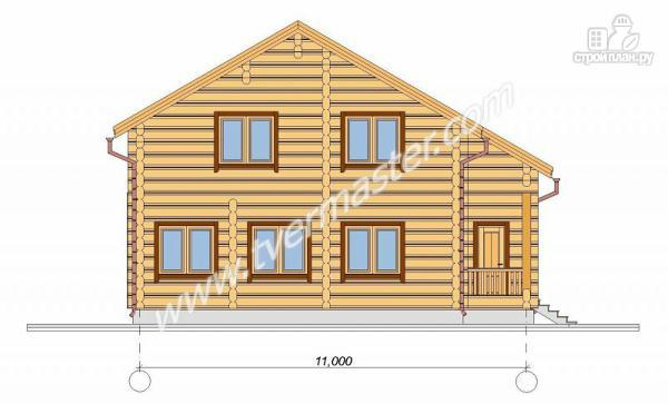 Фото 3: проект дом 10х11 из строганого соснового лафета с сауной
