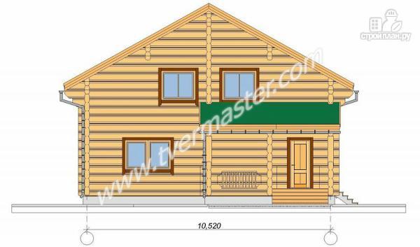 Фото 2: проект дом из строганого соснового лафета с большим крыльцом